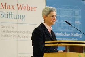 Isabel V. Hull bei der Preisverleihung am 9. Januar 2014.
