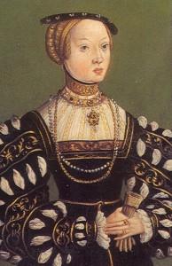 Elisabeth von Österreich (1526-1545)| Polnischer Hofmaler aus der Schule Lukas Cranach des Jüngeren, um 1550 | Public Domain