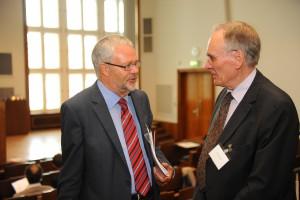 Heinz Duchhardt im Gespräch mit seinem Vorgänger, Wolfgang Schieder.